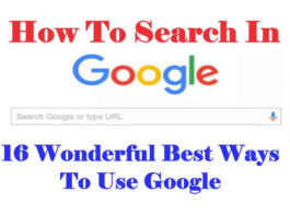 How To Search In Google